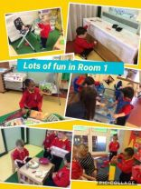 Nursery children happy and settled