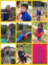 SureStart children visit their new school