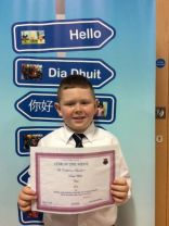 P5A Pupil of the week.