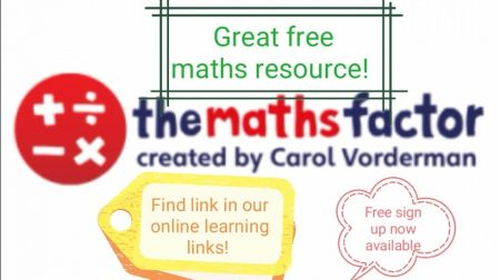 Great Free Numeracy Resource - Please find link in Home Learning